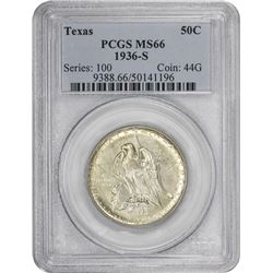 1936-S Texas 50¢ Commemorative. MS-66 PCGS.