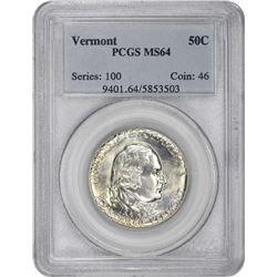 1927 Vermont 50¢ Commemorative. MS-64 PCGS.