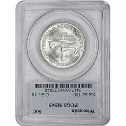1936 Wisconsin 50¢ Commemorative. MS-65 PCGS.
