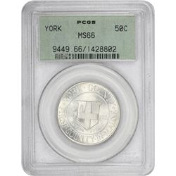 1936 York 50¢ Commemorative. MS-66 PCGS. GH.