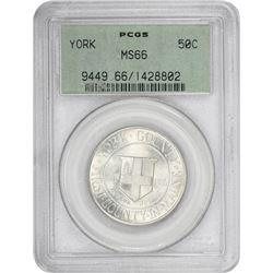 1936 York 50¢ Commemorative. MS-66 PCGS. GH.