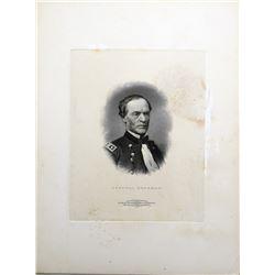 General Sherman Portrait Vignette Die Proof.