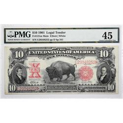 Fr. 121m. 1901 $10 Legal Tender Note. PMG Choice Extremely Fine 45.