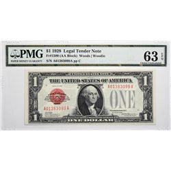 Fr. 1500. 1928 $1 Legal Tender Note. PMG Choice Uncirculated 64 EPQ.
