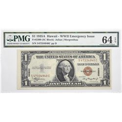 Fr. 2300. 1935A $1 Hawaii Emergency Note. PMG Choice Uncirculated 64 EPQ.