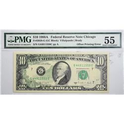 Lot of (3) Federal Reserve Error Notes. Graded.