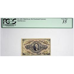 Lot of (3) Fr. 1251, 1255 & 1256. 10 Cent Third Issue. PCGS Currency Graded.