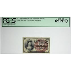 Fr. 1258. 10 Cent. Fourth Issue. PCGS Currency Gem New 65 PPQ.