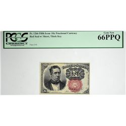 Fr. 1266. 10 Cent. Fifth Issue. PCGS Currency Gem New 66 PPQ.