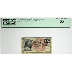 Lot of (2) Fr. 1267 & 1269. 15 Cent. Fourth Issue. PCGS Currency Choice About New 55 & 58 PPQ.
