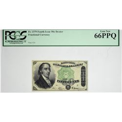 Fr. 1379. 50 Cent. Fourth Issue. Dexter. PCGS Currency Gem New 66 PPQ.