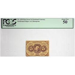 Lot of (5) Fractional Currency. First Issue. PCGS Currency Graded.