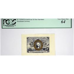 Lot of (2) Fr. 1232sp. 5 Cent. Second Issue. PCGS Currency Very Choice New 64. Face and Back Specime