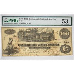 Lot of (10) 1862-63 Confederate Currency. Mixed Grades