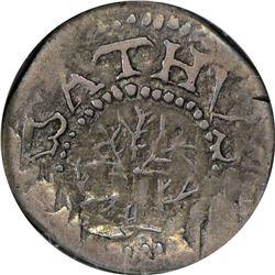 EF 1652 Oak Tree Threepence. 1652 Massachusetts Bay Colony. Noe-28, W-310. Rarity-4. 17.6 grains. EF