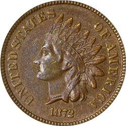 1872 Indian 1¢. AU-53 PCGS.