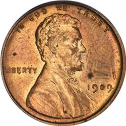 1909 Lincoln 1¢. Proof-63 RD PCGS.