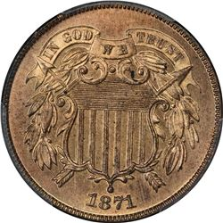 1871 2¢. Proof-65 RB PCGS.
