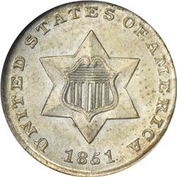 1851 Silver 3¢. MS-65 NGC.
