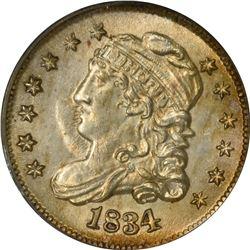 1834 H10¢. LM-2. Rarity-1. MS-62 PCGS.