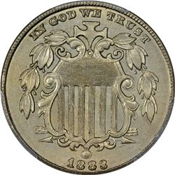 1883 Shield 5¢. MS-62 PCGS.