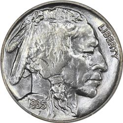 1935 Buffalo 5¢. MS-67 PCGS.