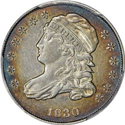 1830 Capped Bust 10¢. JR-4. Rarity-2. Genuine - Cleaned - EF Details PCGS.