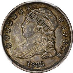 1833 Capped Bust 10¢. JR-9. Rarity-2. EF-45 PCGS.