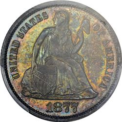 1877 Seated Liberty 10¢. Proof-64 PCGS.