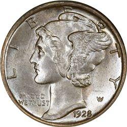 1928-S Mercury 10¢. MS-63 FB PCGS. OGL.