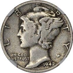 1942/1-D Mercury 10¢. VF-20 NGC.