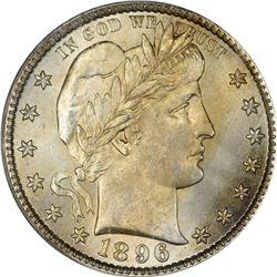 1896 Barber 25¢. MS-64 PCGS.