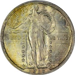 1918-S Standing Liberty 25¢. MS-66 PCGS.
