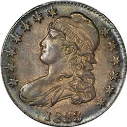 1833 Capped Bust 50¢. O-106. Rarity-2. MS-62 PCGS.