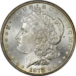 1878-CC Morgan $1. MS-63 PCGS.