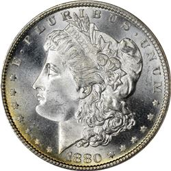 1880-S Morgan $1. MS-67 NGC.