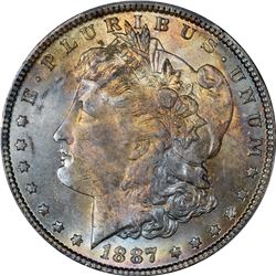 1887 Morgan $1. MS-64 PCGS. CAC.