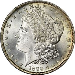 1890-S Morgan $1. MS-66 PCGS.