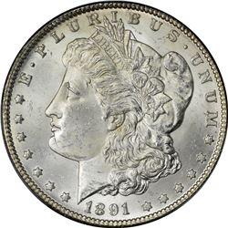 1891-CC Morgan $1. MS-64 PCGS.