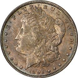 1891-O Morgan $1. MS-63 NGC.