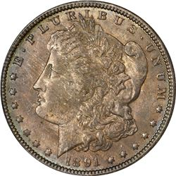1891-O Morgan $1. MS-63 NGC.