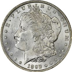 1892-CC Morgan $1. MS-62 PCGS.