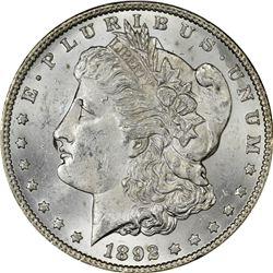 1892-CC Morgan $1. MS-62 PCGS.