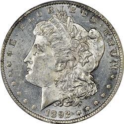 1892-CC Morgan $1. AU-58 PCGS.