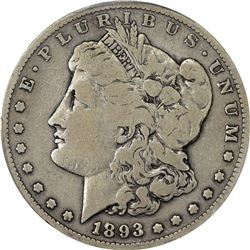 Collector Grade 1893-S Morgan Dollar. 1893-S Morgan $1. Good-06 PCGS.