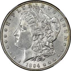 1894-S Morgan $1. AU-58 NGC.