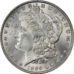 1899 Morgan $1. MS-64+ PCGS.