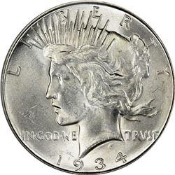 1934-D Peace $1. MS-63 PCGS.