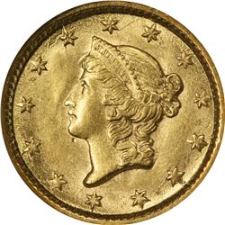 1854 Gold $1. Type I. MS-61 NGC.