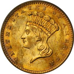 1862 Gold $1. MS-62 PCGS.